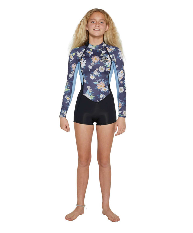 Girls Bahia 2mm Long Sleeve Spring Suit Wetsuit - Daisy