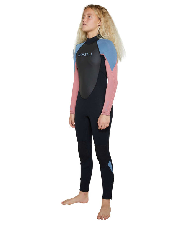 Girls Reactor II 3/2mm Steamer Wetsuit - Black / Rose