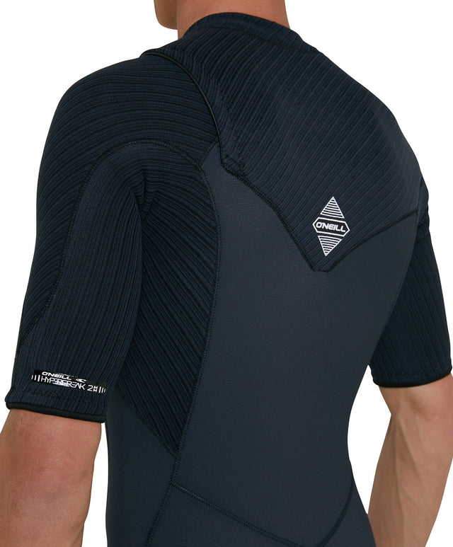 Hyperfreak 2mm Short Arm Steamer Chest Zip Wetsuit - Gunmetal