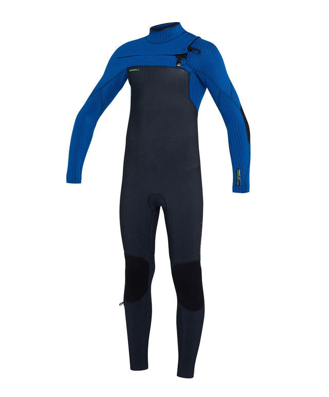 Kids Hyperfreak 3/2+ Steamer Chest Zip Wetsuit - Acid/Ultrablue