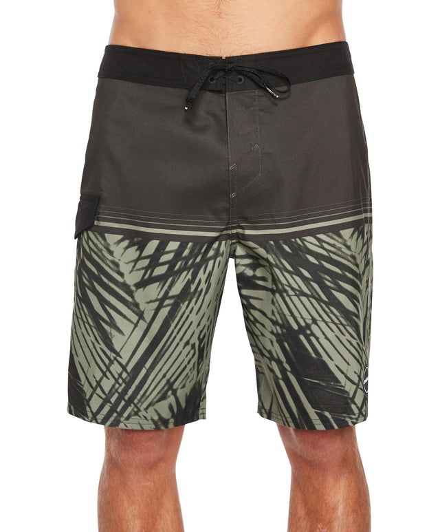 Hideout Boardshort - Black Green