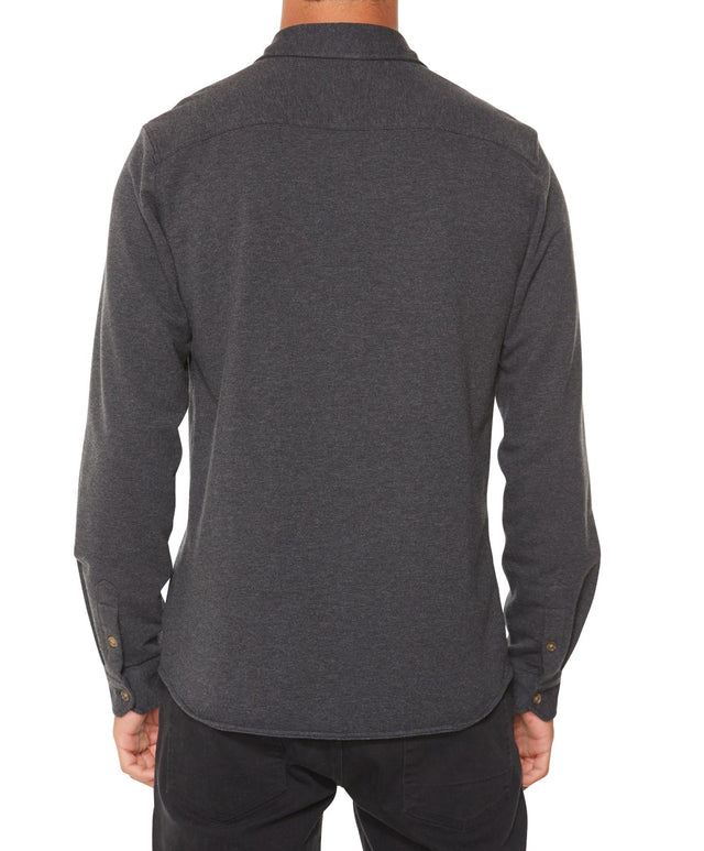 Anton Long Sleeve Knoven Shirt - Asphalt Heather