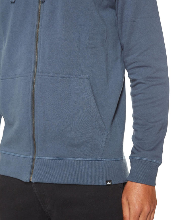 Jacks Base Zip Fleece Hoodie - Blue Slate
