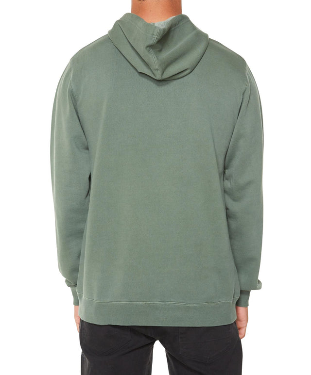 Smokestack Pop Fleece Hoodie - Dill Green