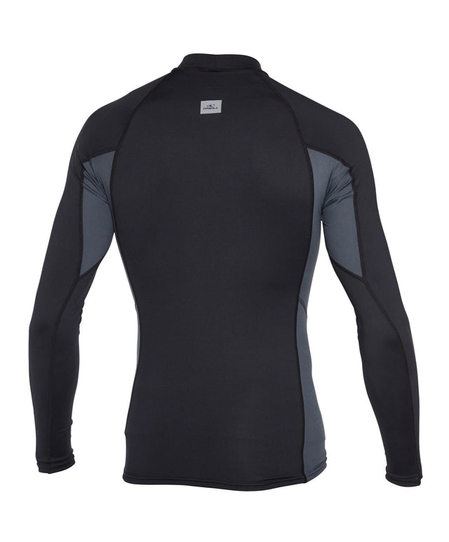 Skins Long Sleeve Rash Vest - Black/Graphite