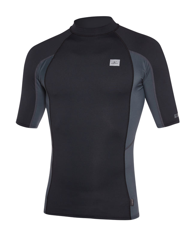Skins Short Sleeve Rash Vest - Black/Graphite