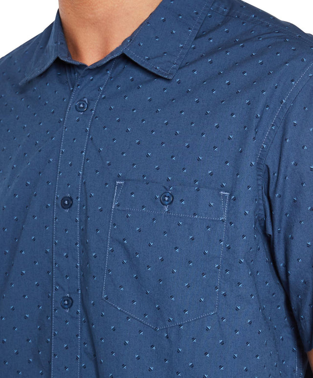 Microlinked Shirt - Navy