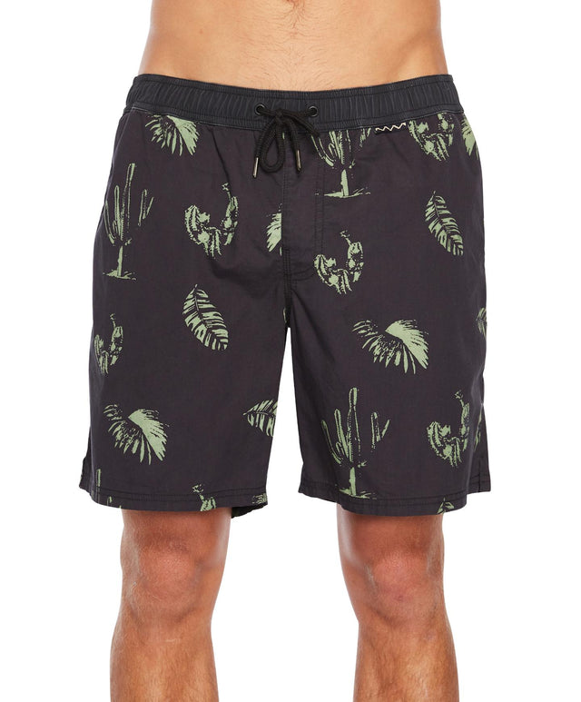 Pescadero Slacker Short - Black Green