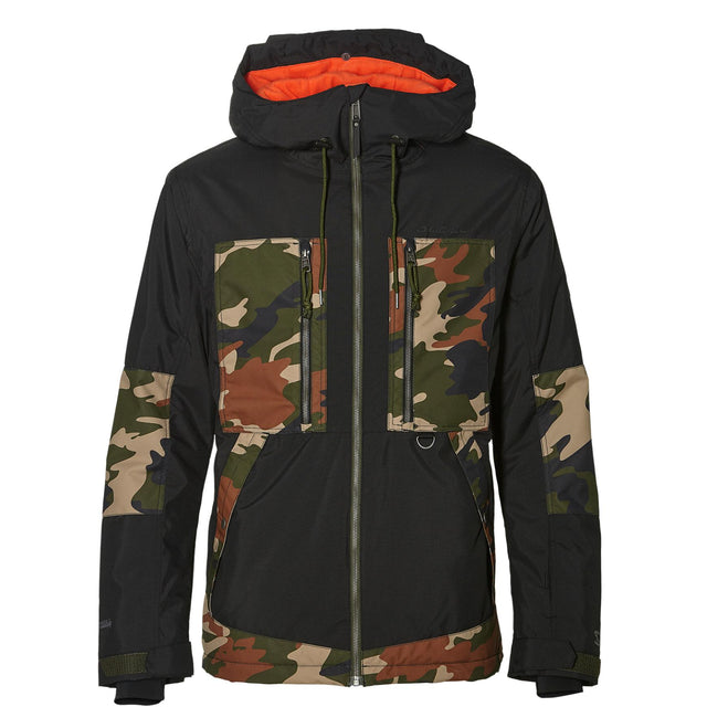 Hybrid Seb Toots Terrain Jacket - Black Aop With Green