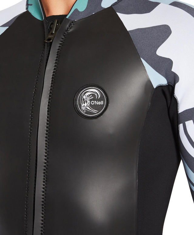 OLimited Long Arm Steamer Wetsuit Zip Wetsuit Jacket - Black Baja