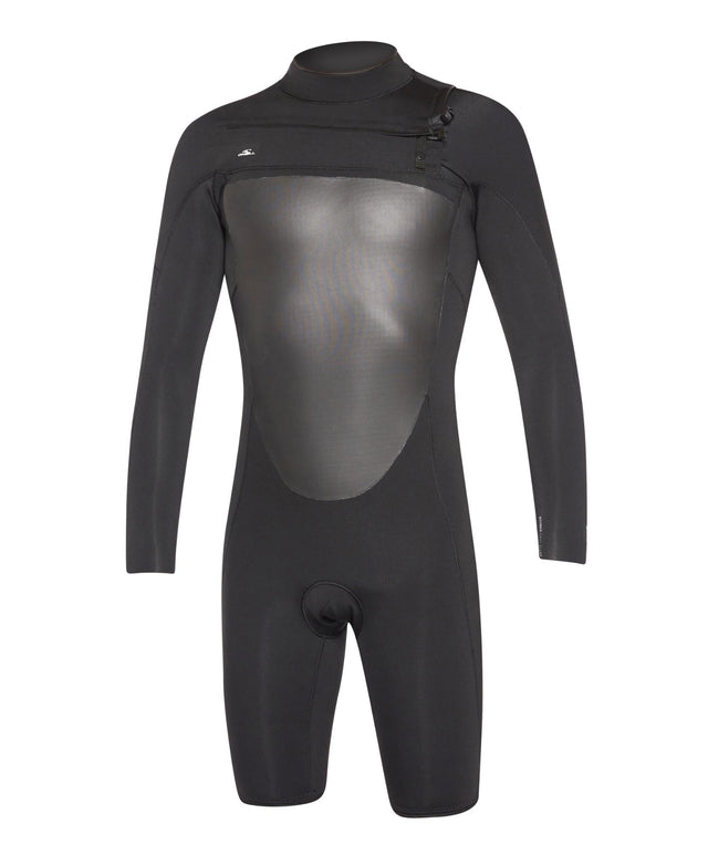 Defender 2mm Long Arm Spring Suit Chest Zip Wetsuit - Black