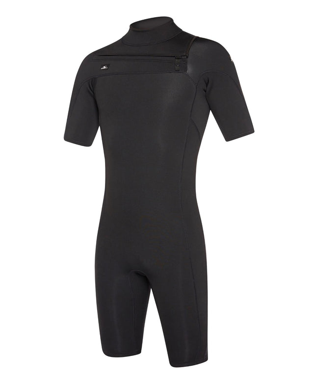 Defender 2mm Short Arm Spring Suit Chest Zip Wetsuit - Black