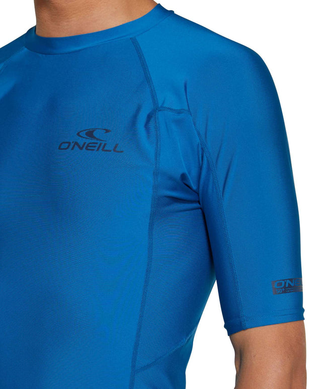 Basic Skins Short Sleeve Rash Vest - Ultra Blue