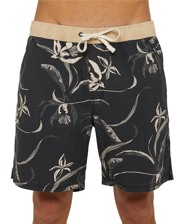 Backyards Slacker Shorts - Black Multi