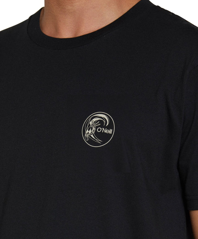 Circle Surfer T-Shirt - Black