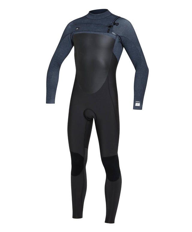 Defender 3/2mm Steamer Chest Zip Wetsuit - Raven / Acidwash