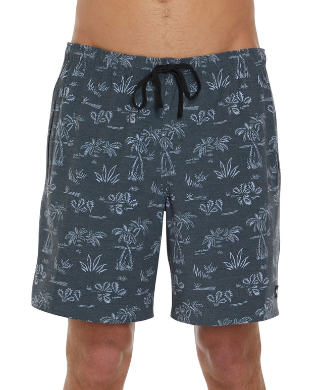 Kona Switch Slacker Shorts - Palm/Black