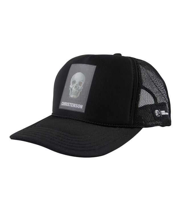 Chris Christenson Skull Trucker Hat - Black