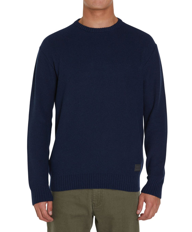 Half Moon Knitted Jumper - Navy