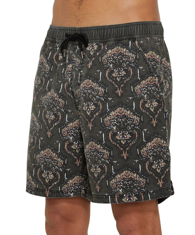 Marrakech Slacker Shorts - Black Multi