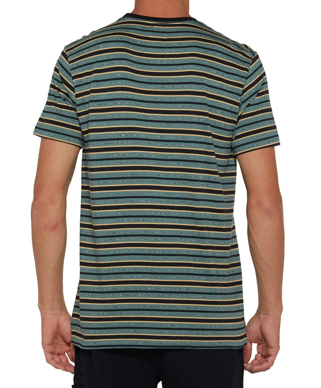Momentum Stripe T-Shirt - Washed Ivy
