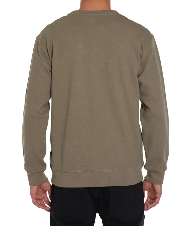 Pavement Crew Fleece Jumper - Khaki