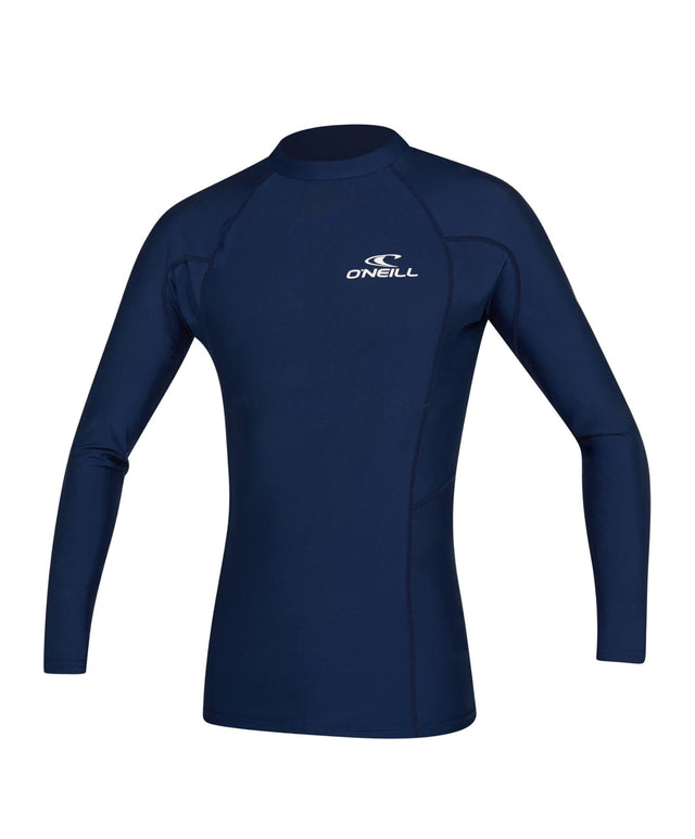 Basic Skins Long Sleeve Rash Vest - Navy