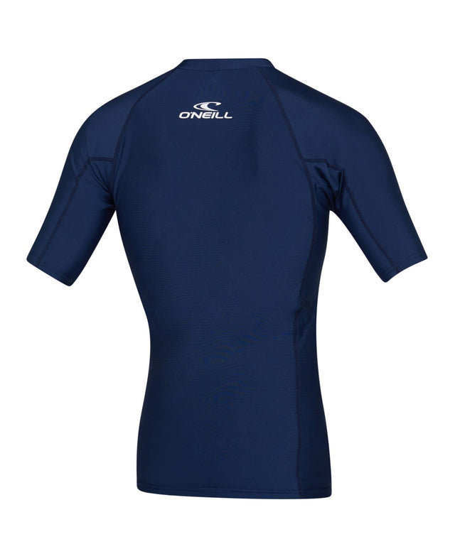 Basic Skins Short Sleeve Rash Vest - Navy