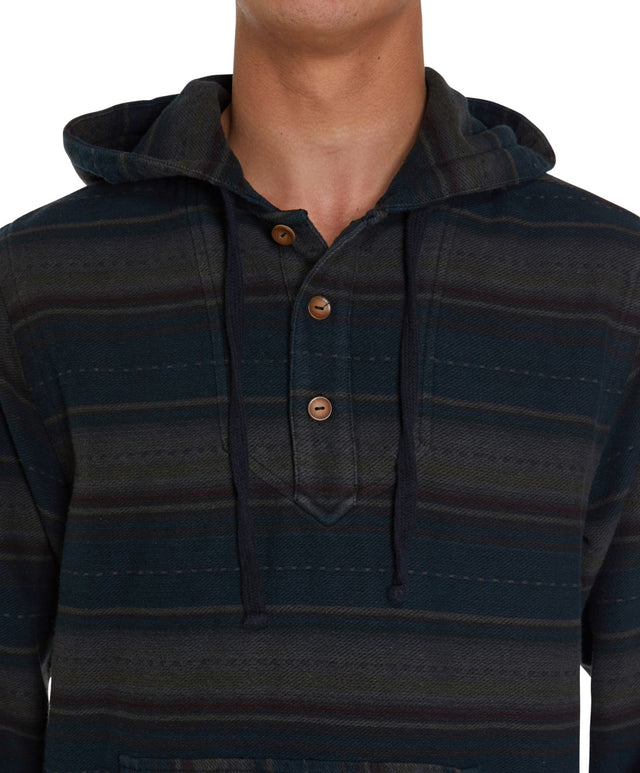 Baja Poncho Flannel Long Sleeve Shirt - Graphite