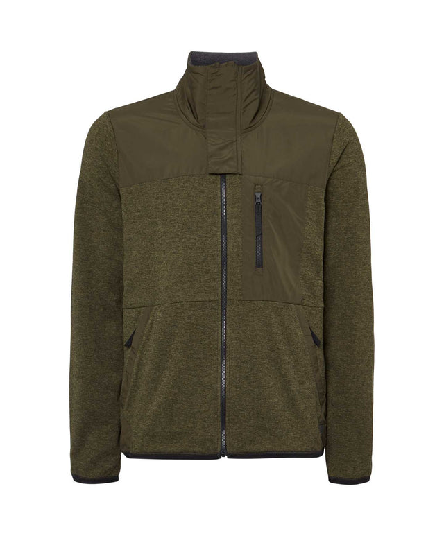 Mens Andesite Full Zip Snow Fleece - Forest Night