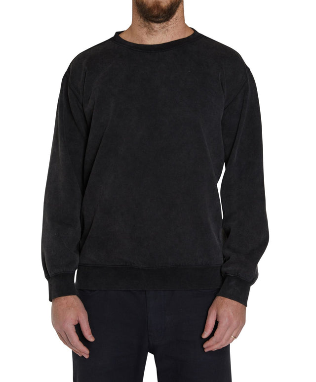 Subvert Crew Fleece Jumper - Black