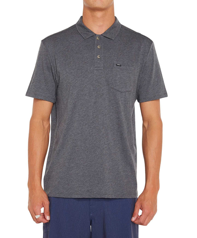 Jacks Base Polo - Charcoal Marle