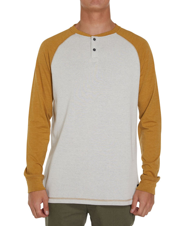 Void Henley Long Sleeve T-shirt - Bronze