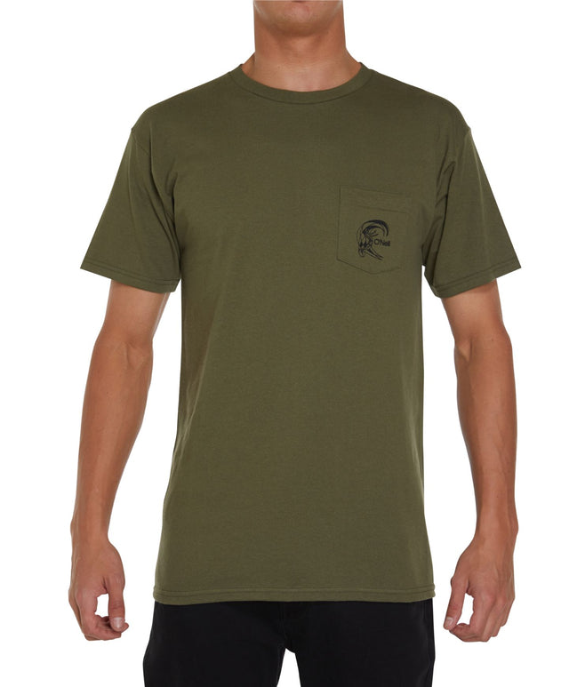 Chris Christenson Skull Pocket Short Sleeve T-Shirt - Army