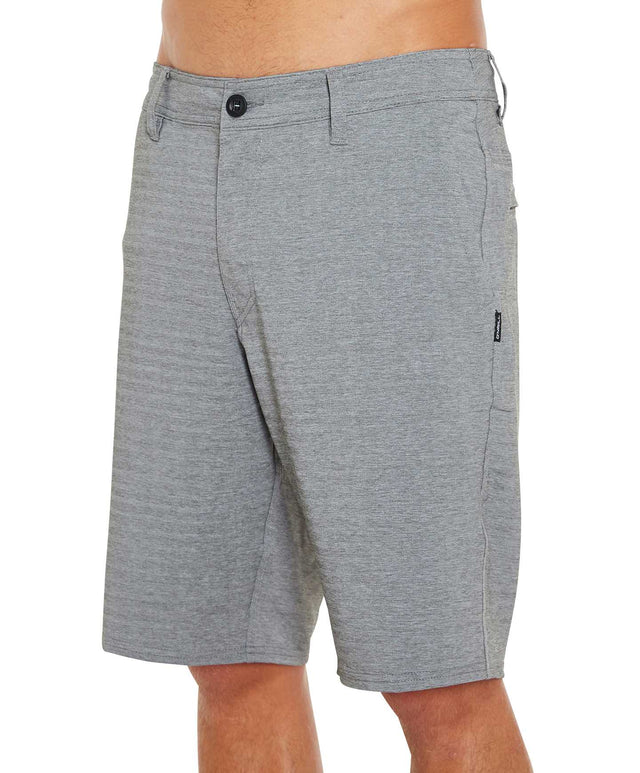 Locked Heather Herringbone Hybrid Shorts - Army
