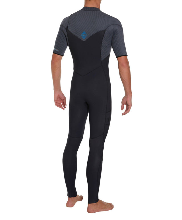 Hyperfreak 2mm Short Arm Steamer Chest Zip Wetsuit - Black/Graphite