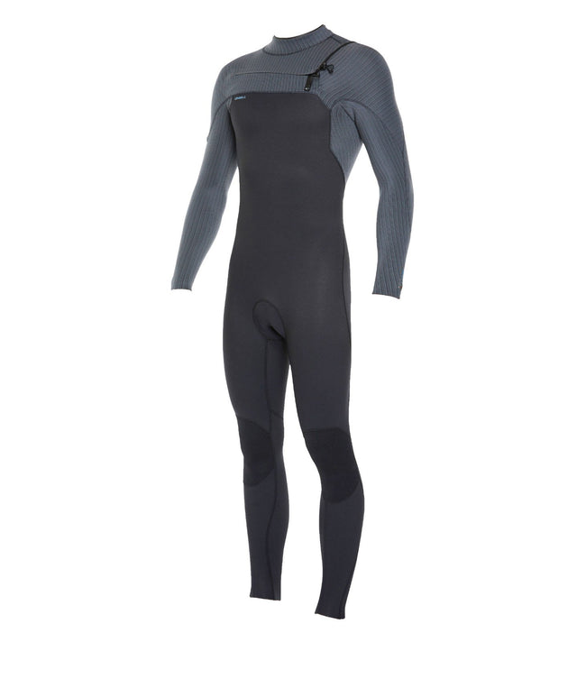 Hyperfreak 3/2+ Steamer Chest Zip Wetsuit - Black/Graphite