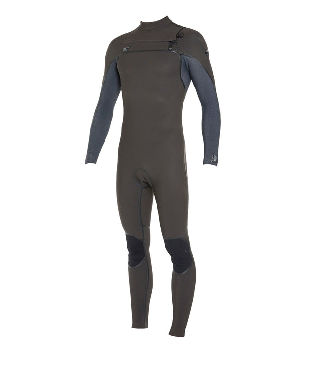 Psycho 1 3/2mm Steamer Chest Zip Wetsuit - Raven