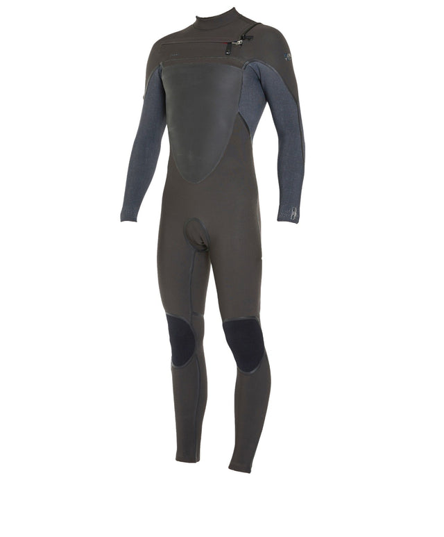 Psychotech 3/2mm Steamer Chest Zip Wetsuit - Raven