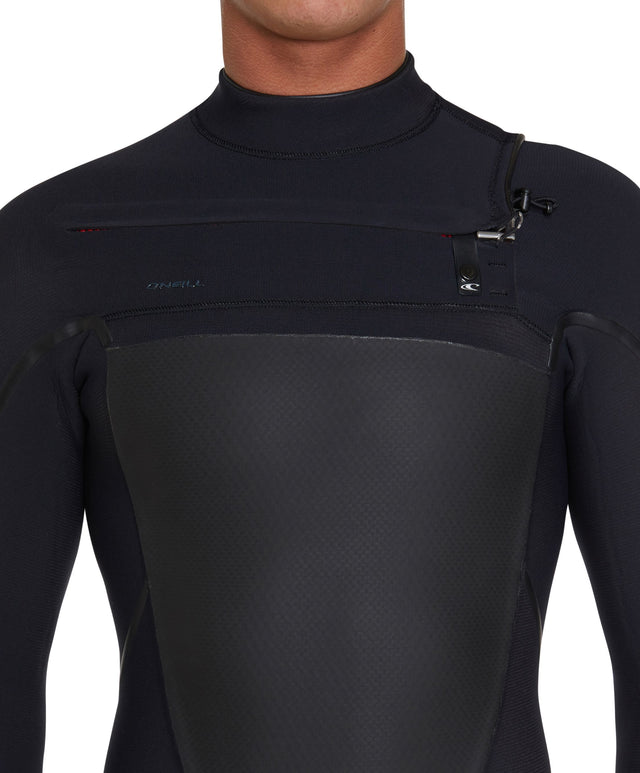 Psychotech 3/2mm Steamer Chest Zip Wetsuit - Black