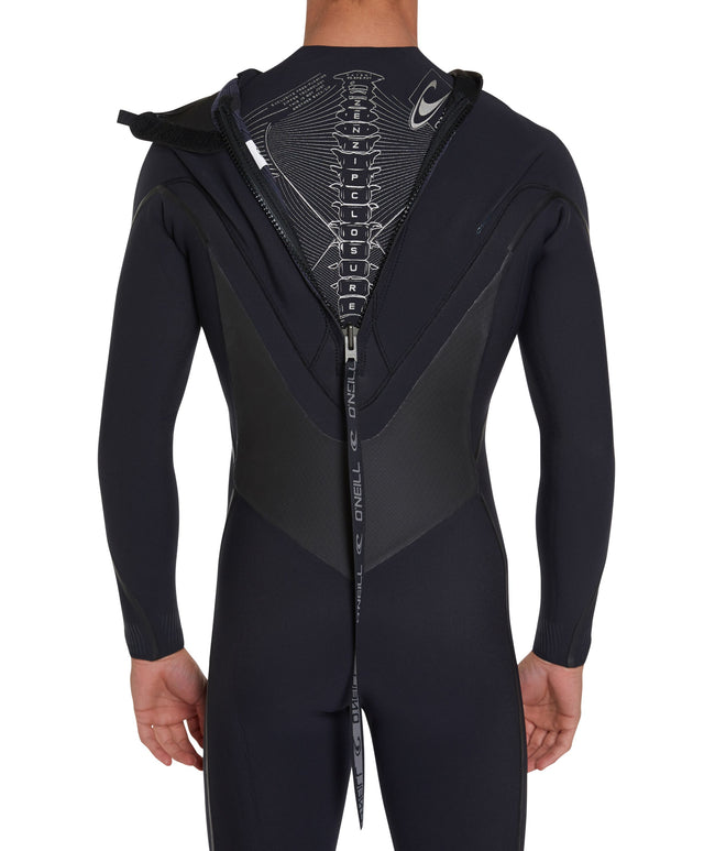 Psycho Tech 3/2mm Steamer Back Zip Wetsuit - Black