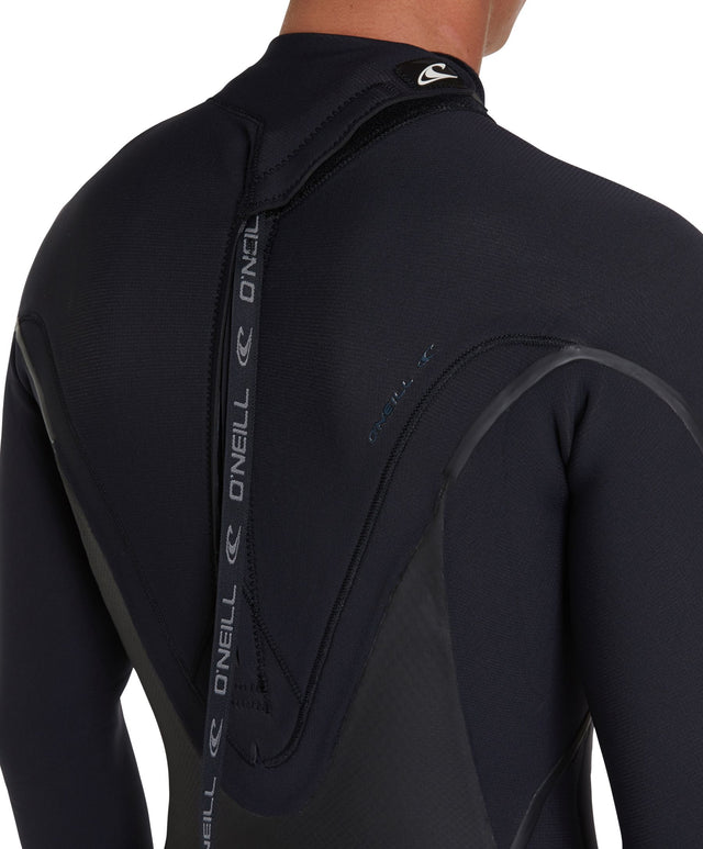 Psychotech 4/3mm Steamer Back Zip Wetsuit - Black