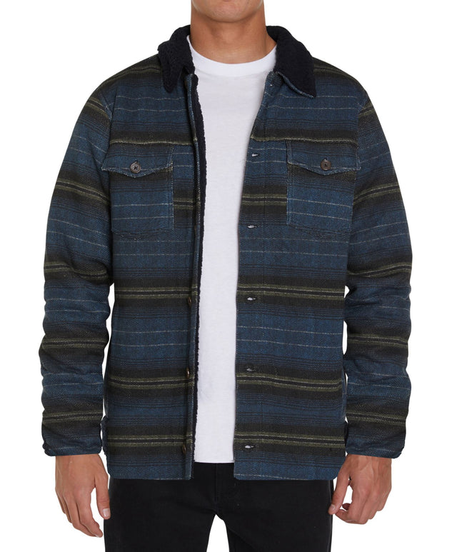 Caballero Superfleece Sherpa Detailed Jacket - Navy