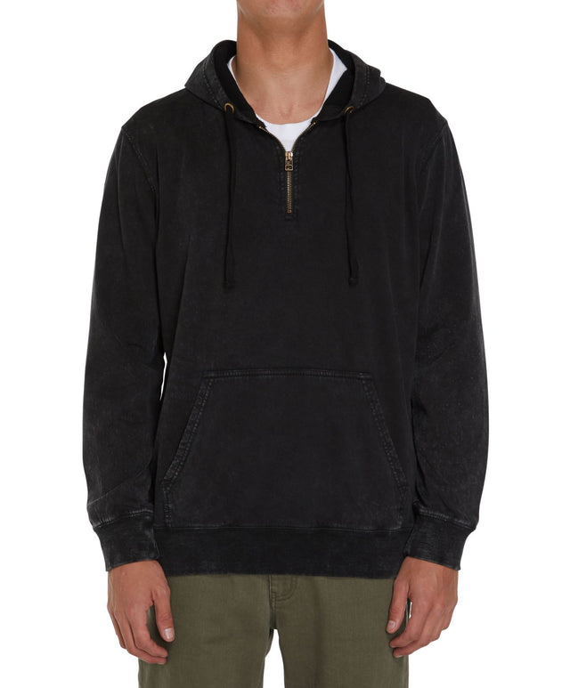 Marshall Superfleece Pullover Hoodie - Washed Black