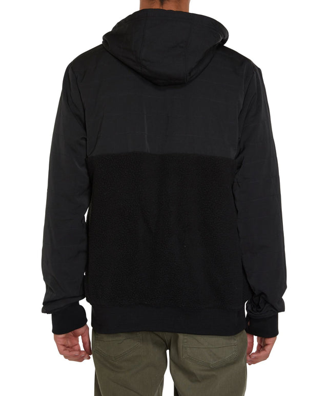 Quadra Superfleece Fleece Lined Zip Hoodie - Black Out