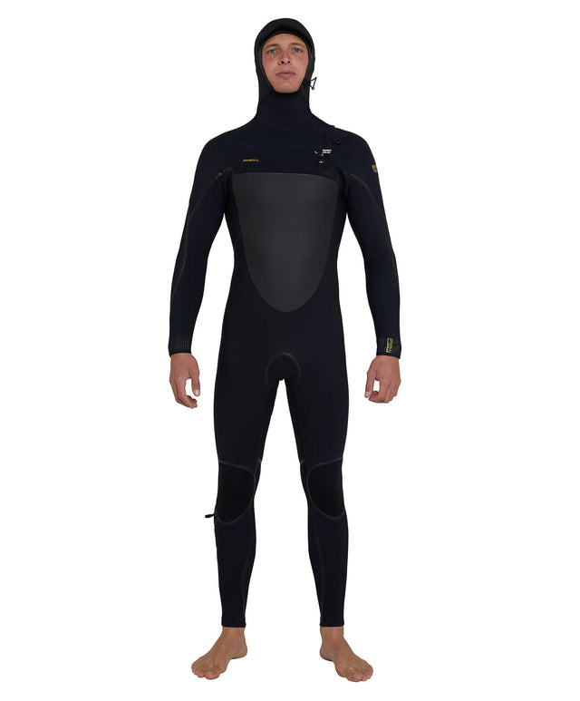 Psycho Tech 5/4mm Hooded Steamer Chest Zip Wetsuit - Black