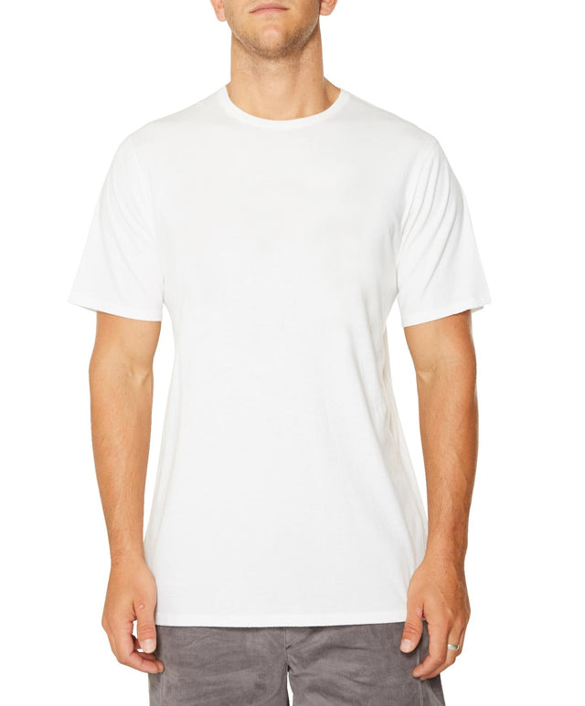 Jacks Base Plain T-Shirt - Super White