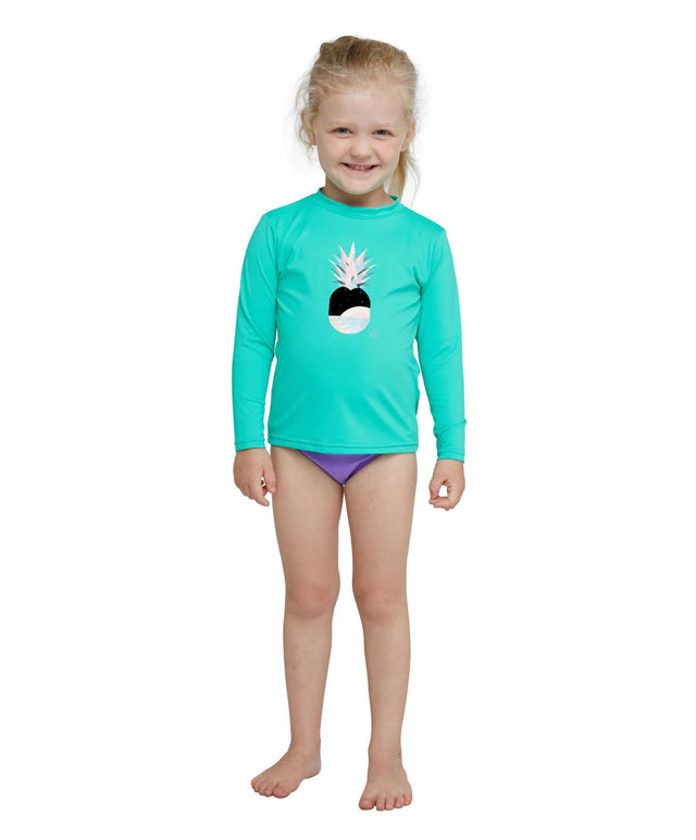 Toddler O'Zone Long Sleeve Sun Shirt Rash Vest - Seaglass