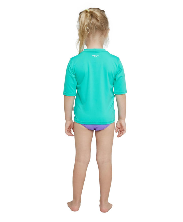 Toddler O'Zone Short Sleeve Sun Shirt Rash Vest - Seaglass