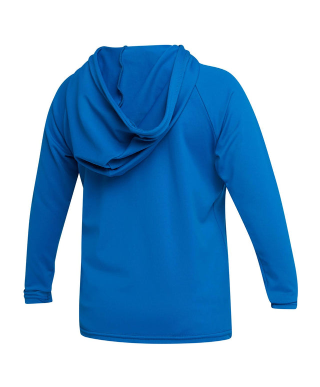 Toddler Skins Hoodie Rash Vest - Ultra Blue